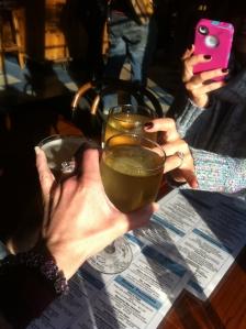 Wine and Calamari (yes calamari, I'm not perfect!)