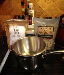 The bowl/pot & ingredients