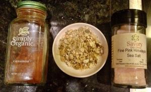 Cinnamon, pumpkin seeds, sea salt