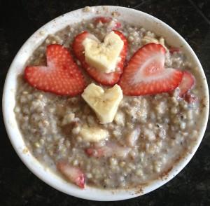 """My """"hearty"""" steel cut oats breakfast"""