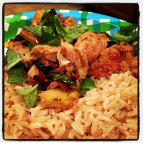Pineapple Basil Chicken with Bacon